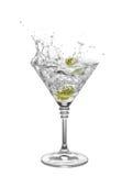 Martini isolerade på vit Royaltyfria Bilder