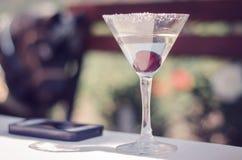 Martini-kersencocktail Royalty-vrije Stock Foto