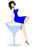 Martini Lady Royalty Free Stock Photos