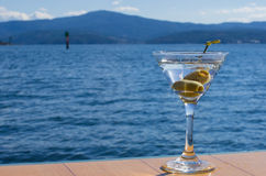 Martini on lake2 Royalty Free Stock Photo