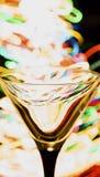 Martini-leeres Glas lizenzfreies stockfoto