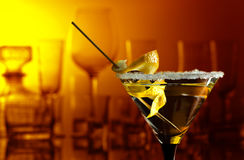 Martini with lemon Royalty Free Stock Photo