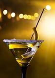 Martini with lemon and sugar. The Martini glass with lemon and sugar Stock Image