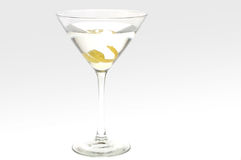Martini with a lemon twist Stock Image