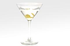Martini with a lemon twist. Studio shot against white, back lit Stock Image