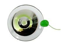 Martini met een kers Stock Afbeelding