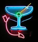 Martini met pijl royalty-vrije stock afbeelding