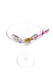 Martini met Terughoudende olijf. Stock Afbeeldingen