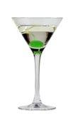 Martini mit einer Kirsche Stockfoto
