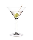 Martini mit Olive. stockbild
