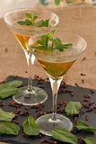 Martini mojito  cocktail. Royalty Free Stock Photo