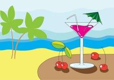 Martini na praia Imagem de Stock Royalty Free