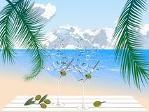 Martini na praia Foto de Stock Royalty Free