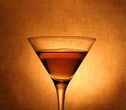 Martini nel vetro Fotografia Stock Libera da Diritti