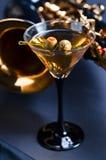 Martini och saxofon Royaltyfri Fotografi