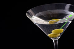 Martini with Olive Royalty Free Stock Image