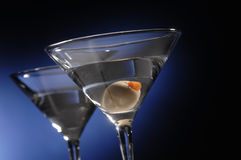 Martini With Olive Stock Photography