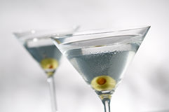 Martini with olive Royalty Free Stock Photo