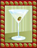 Martini in Olive Frame Royalty Free Stock Photos