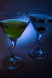 Martini with olive Stock Photo