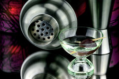 Martini and olive Stock Photography