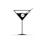 Martini with olive vector Stock Photography