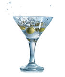 Martini with olives Royalty Free Stock Image