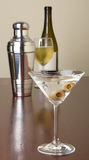 Martini With Olives On Bar Stock Image