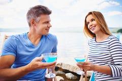 Martini op het strand stock foto