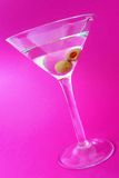 Martini Over Purple Stock Images