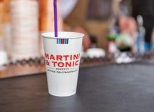 Martini paper stacker at Atlas Weekend Festival in Kiev, Ukraine royalty free stock image