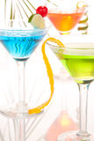 Martini party cocktails Stock Images