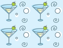Martini Pattern Royalty Free Stock Photography