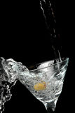 Martini pleuvoir à torrents Photos stock