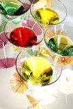 Martini rainbow Royalty Free Stock Images