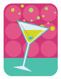 Martini retro style illustration. Stock Photo