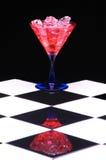 Martini rojo con hielo Fotografía de archivo libre de regalías