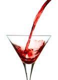 Martini rojo de colada Fotografía de archivo libre de regalías