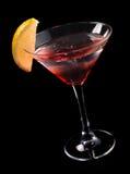 Martini rojo en el hielo Fotos de archivo
