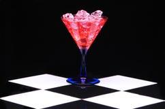 Martini rouge avec de la glace Image stock