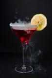 Martini rouge avec le citron Photographie stock libre de droits