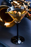 Martini and sax Royalty Free Stock Photography