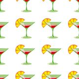 Martini seamless vector pattern Royalty Free Stock Image