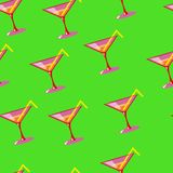 Martini seamless vector pattern Royalty Free Stock Photography