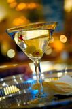 Martini on a silver serving tray Stock Photography