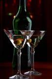 Martini sirvió Foto de archivo libre de regalías