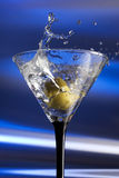 Martini splash royalty free stock image