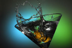 Martini Splash Stock Image