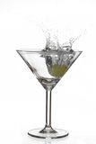 Martini splash Stock Image
