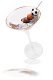 Martini and sport olives Royalty Free Stock Images